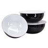 BK54 - Black on Black - Set of 3 Large Mixing Bowls