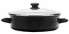 BK79 - Black on Black - Small 5 Quart Saute Pan by Golden Rabbit