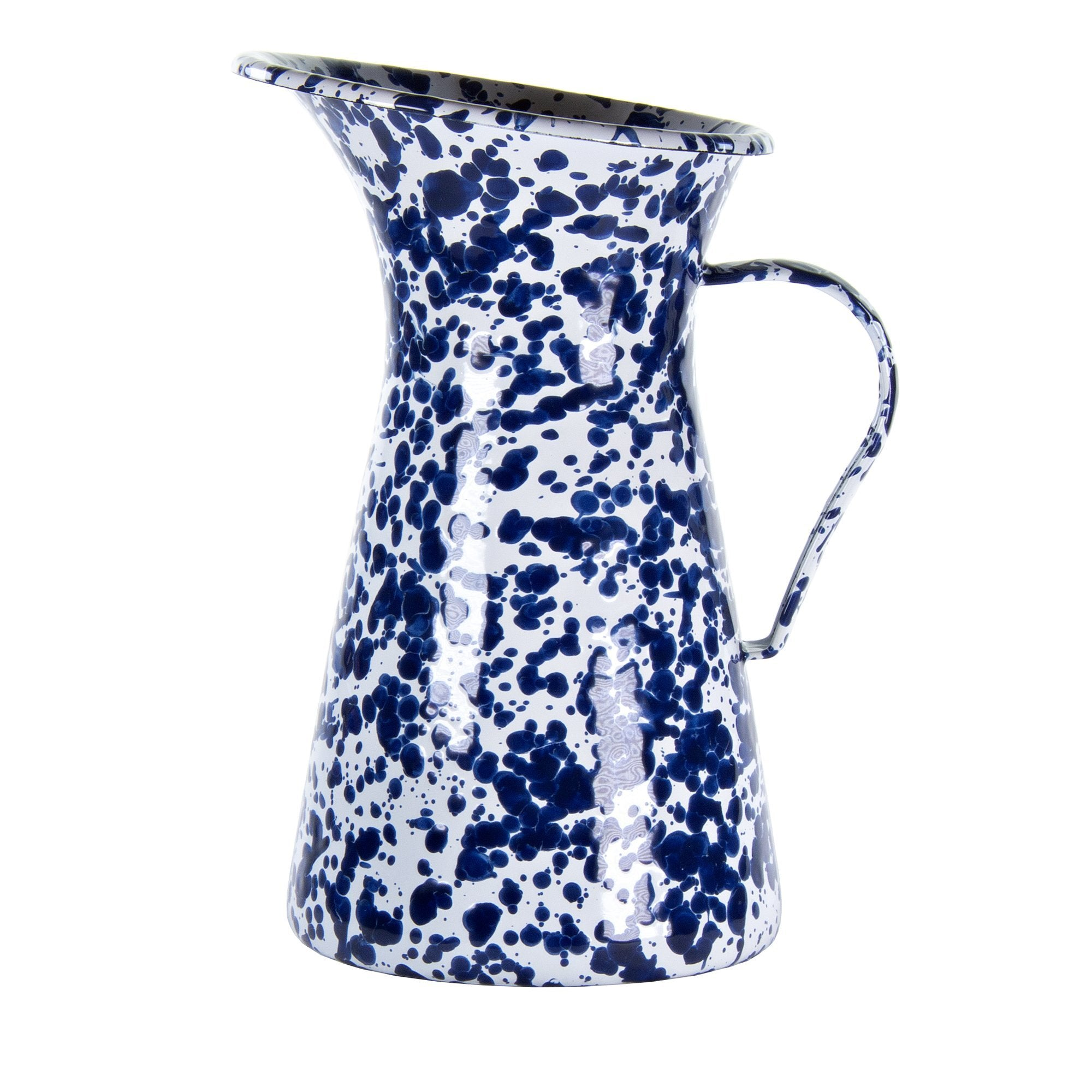 CB63 - Cobalt Blue Swirl - Enamelware- Large Pitcher by Golden Rabbit