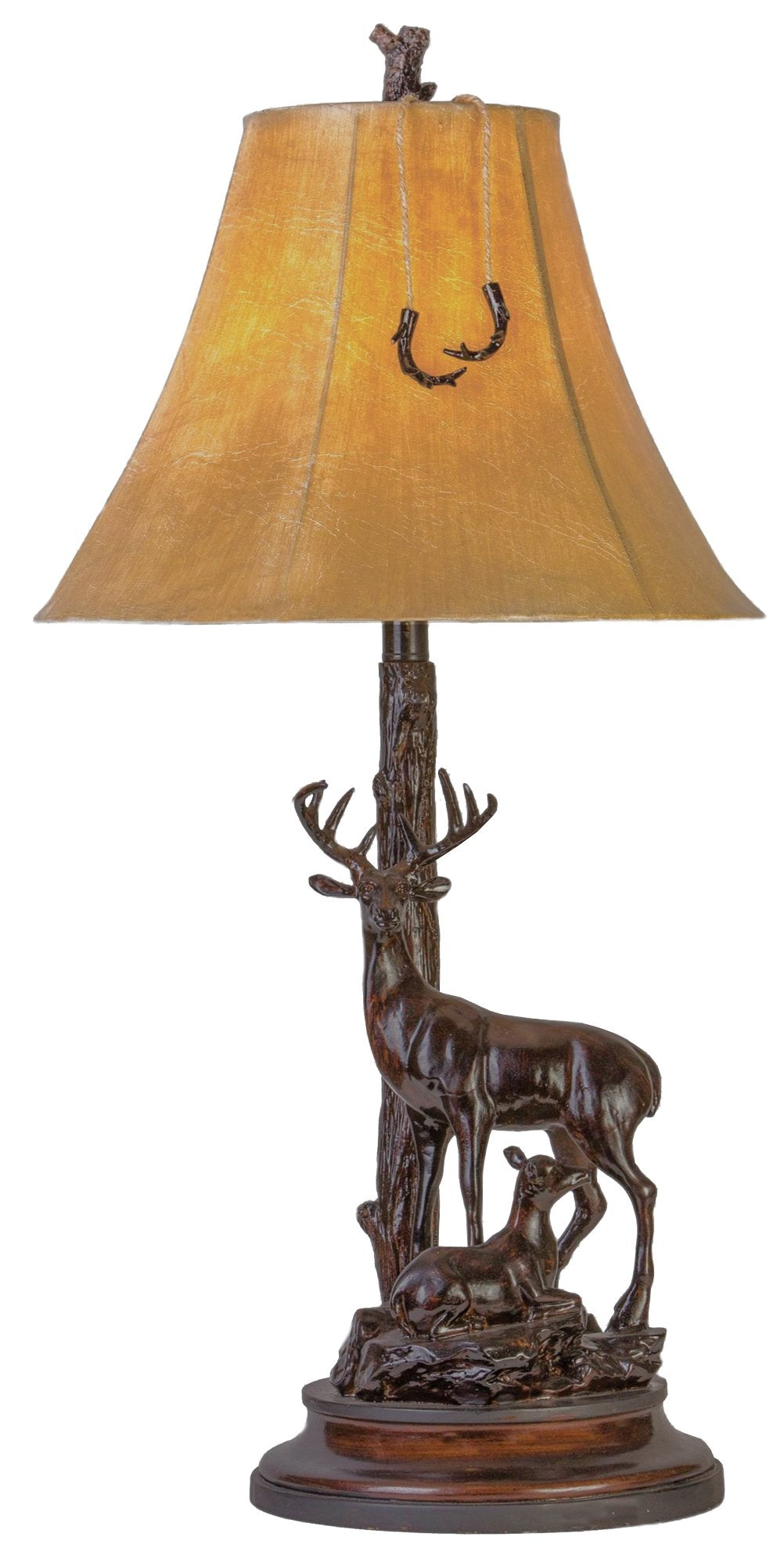 CL5015 - GRAND BUCK AND DOE TABLE LAMP  by Vintage Direct Lamps - ThunderHorseCabin.com
