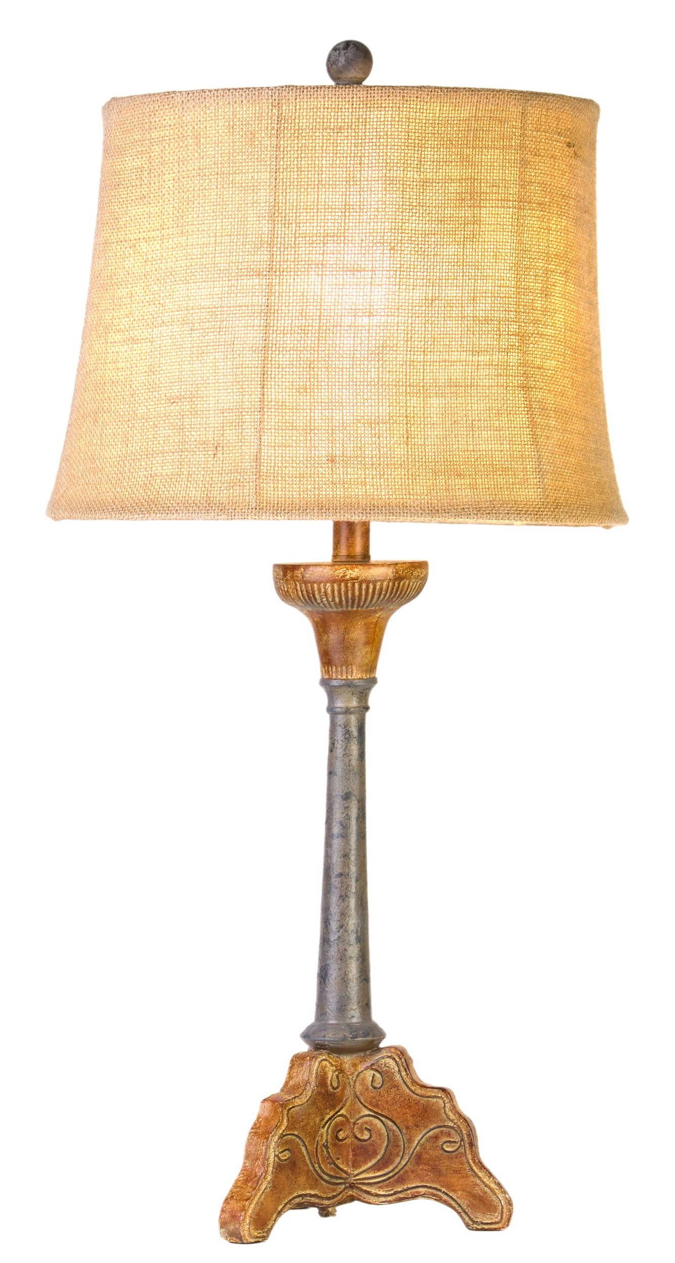 CL5055 - Faux Metal Table Lamp by Vintage Direct - ThunderHorseCabin.com