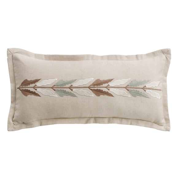 FB1611P2 - Embroidered Linen Pillow