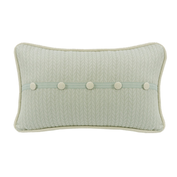 FB1611P3 - Decorative Trim Accent Pillow With Linen Buttons