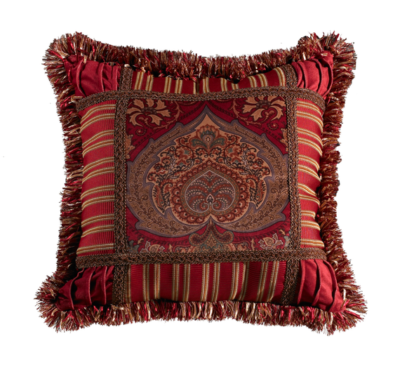 FB3838P1  Lorenza Printed Velvet Pillow