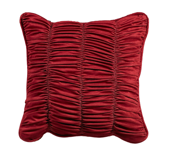 FB3838P2  Lorenza Shirred Velvet Pillow