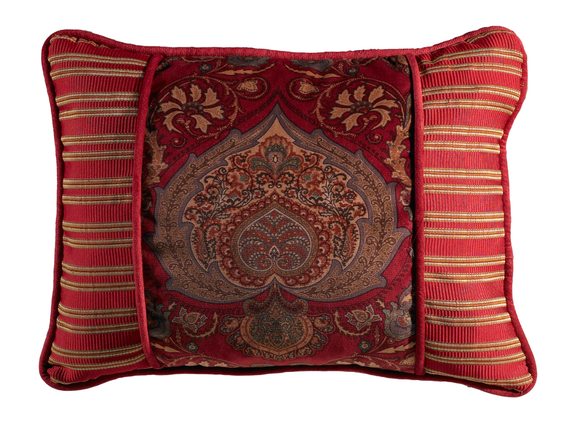 FB3838P3  Lorenza Printed Oblong Velvet Pillow