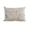 FB3900P2  Fairfield Printed French Script Pillow