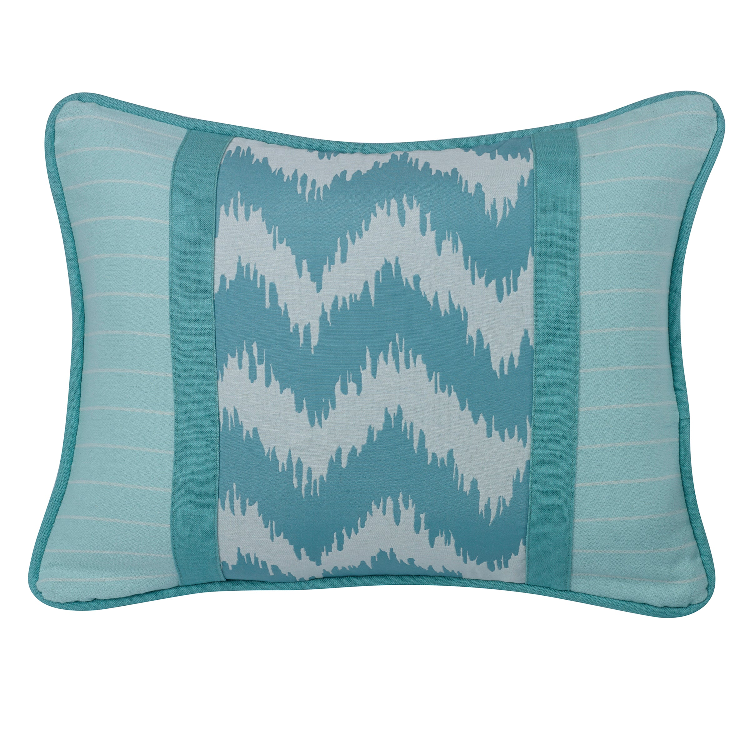 FB3930P3  Catalina Chevron and Stripes Pillow