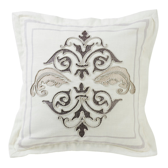 FB4900P1  Charlotte Square Embroidered Pillow