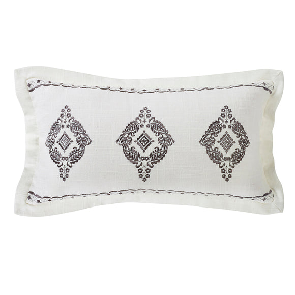 FB4900P5  Charlotte Oblong Embroidered Lace Pillow