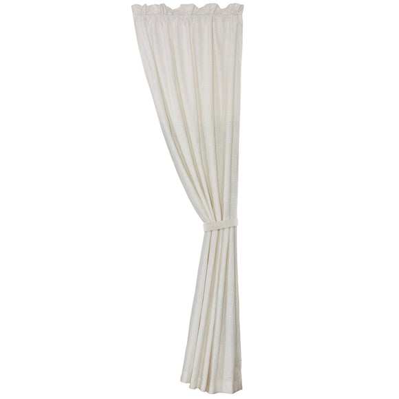 FB5400C  Newport White Linen Curtain