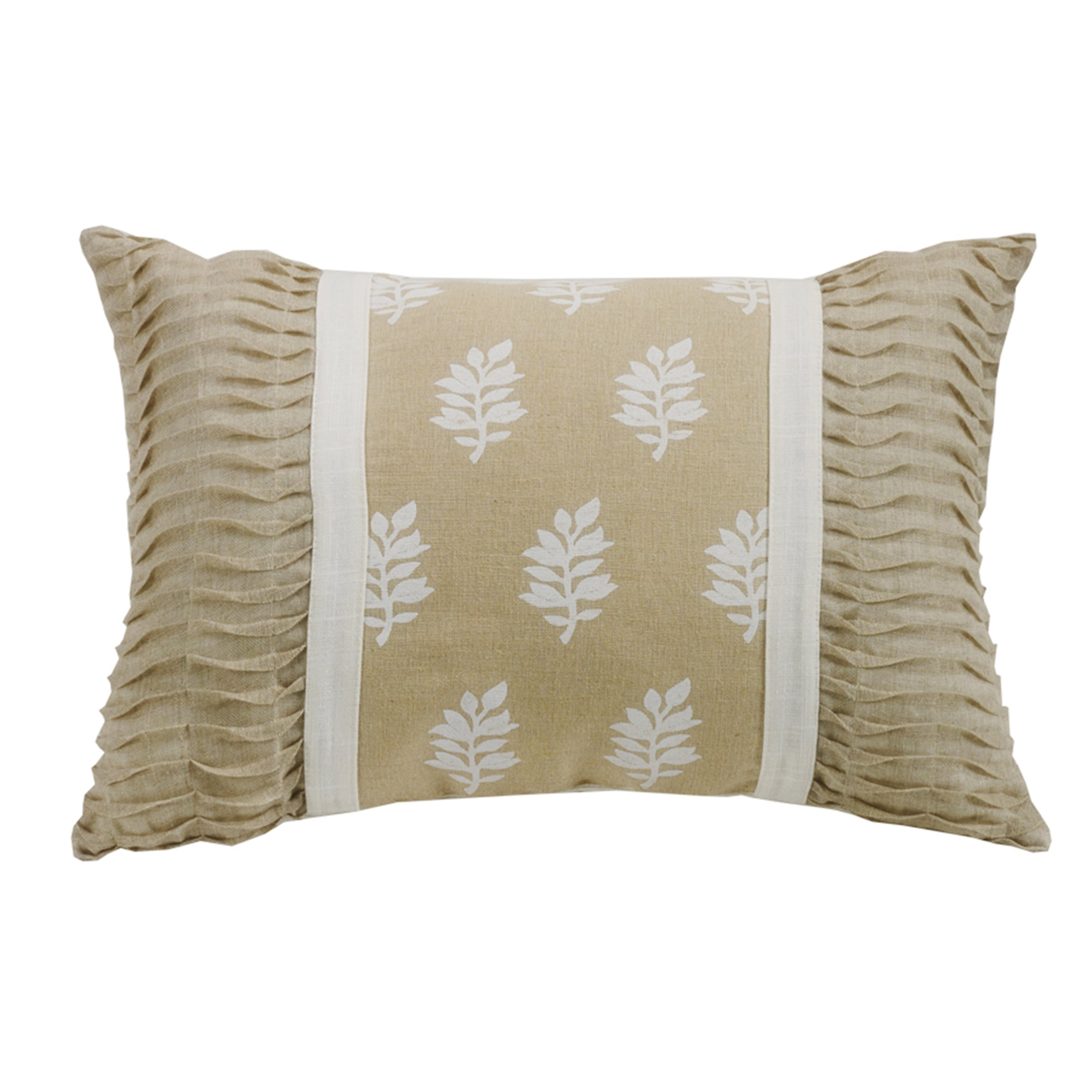 FB5400P4  Newport Oblong Pillow with Rouching Ends