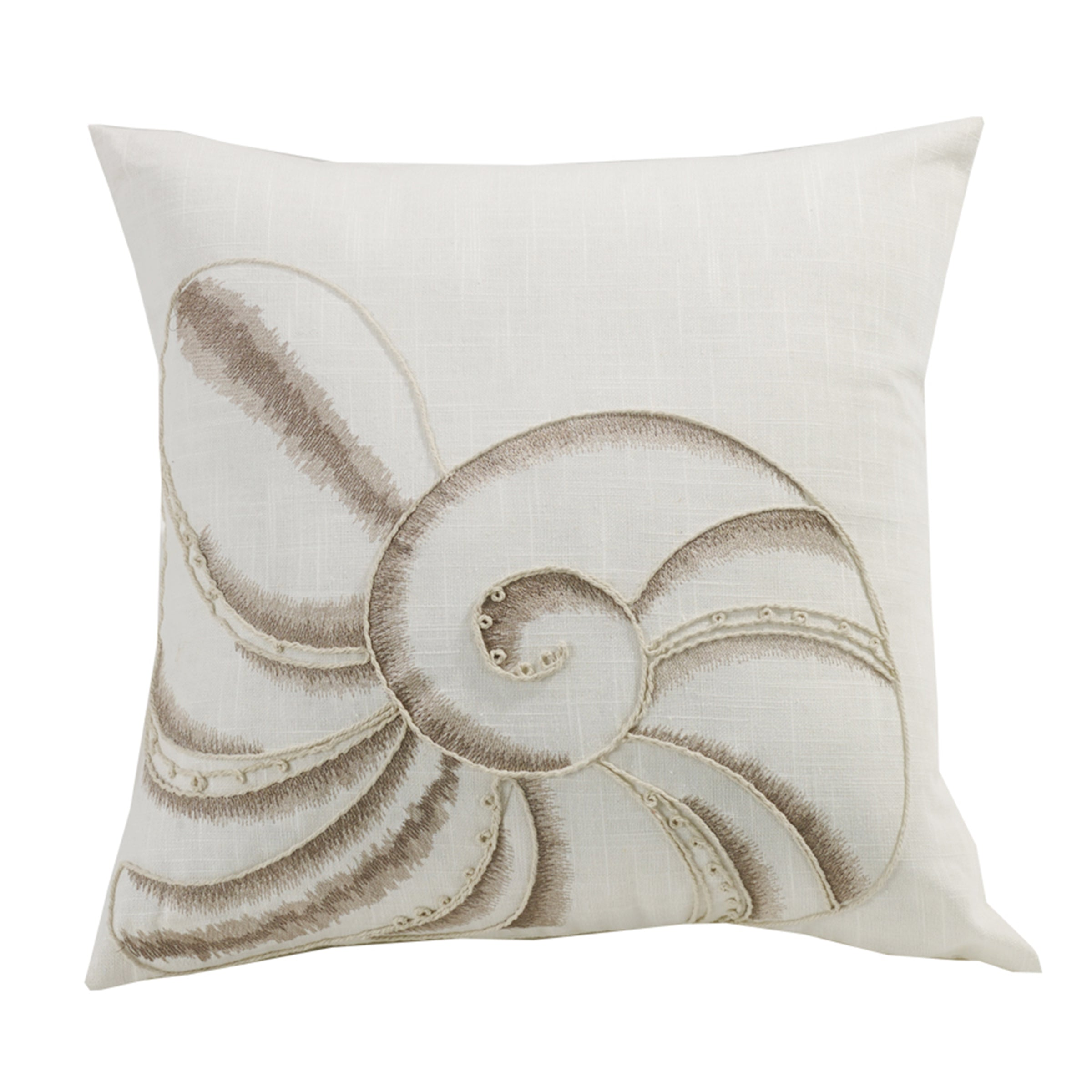 FB5400P5  Newport Seashell Embroidery Pillow
