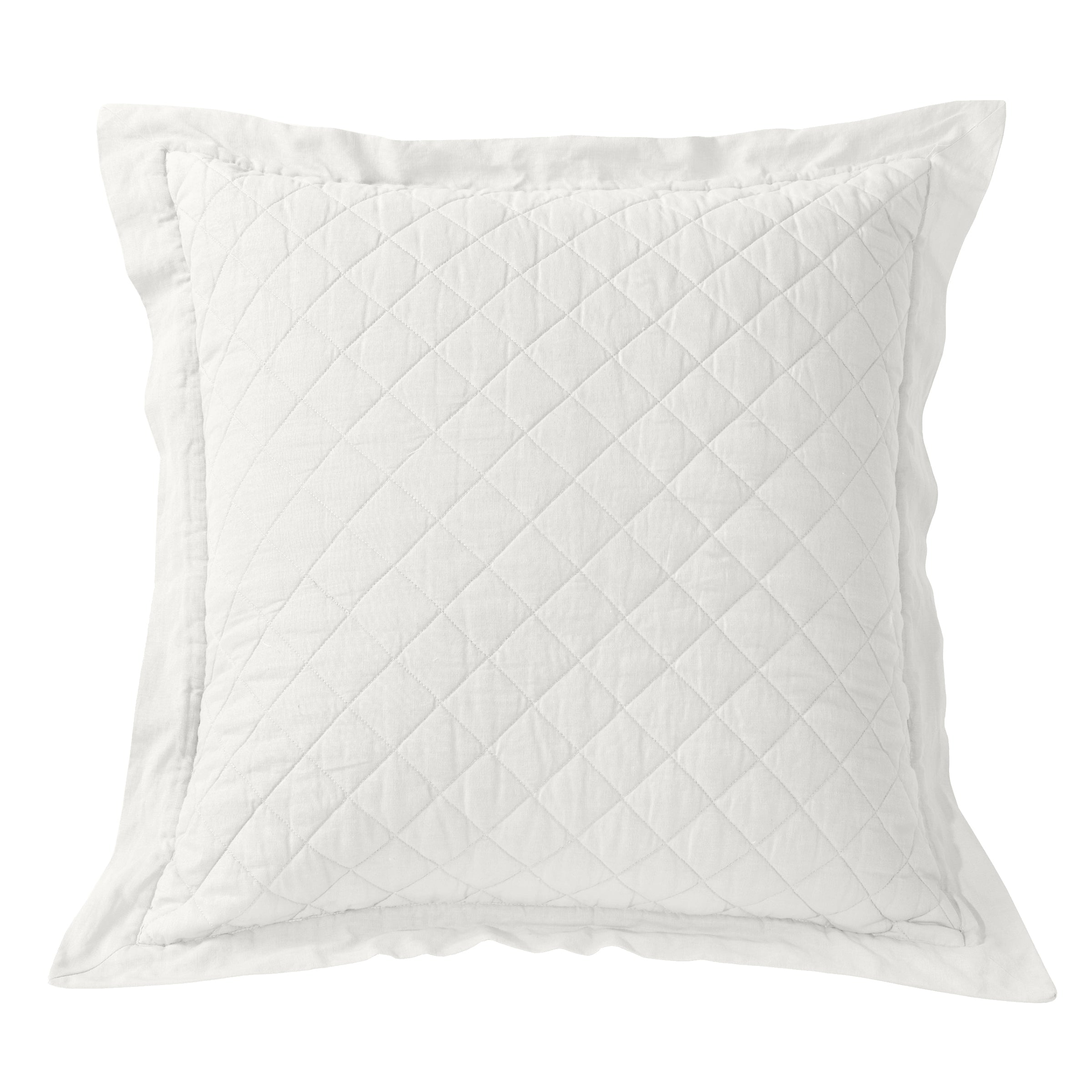 FB6100ES  Diamond Pattern Linen Euro Sham