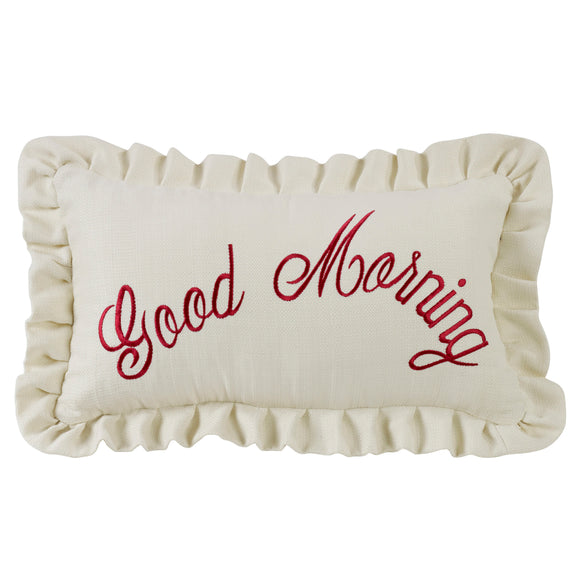 FB6200P6  Bandera Good Morning Embroidery Pillow