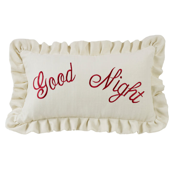 FB6200P7  Bandera Good Night Embroidery Pillow