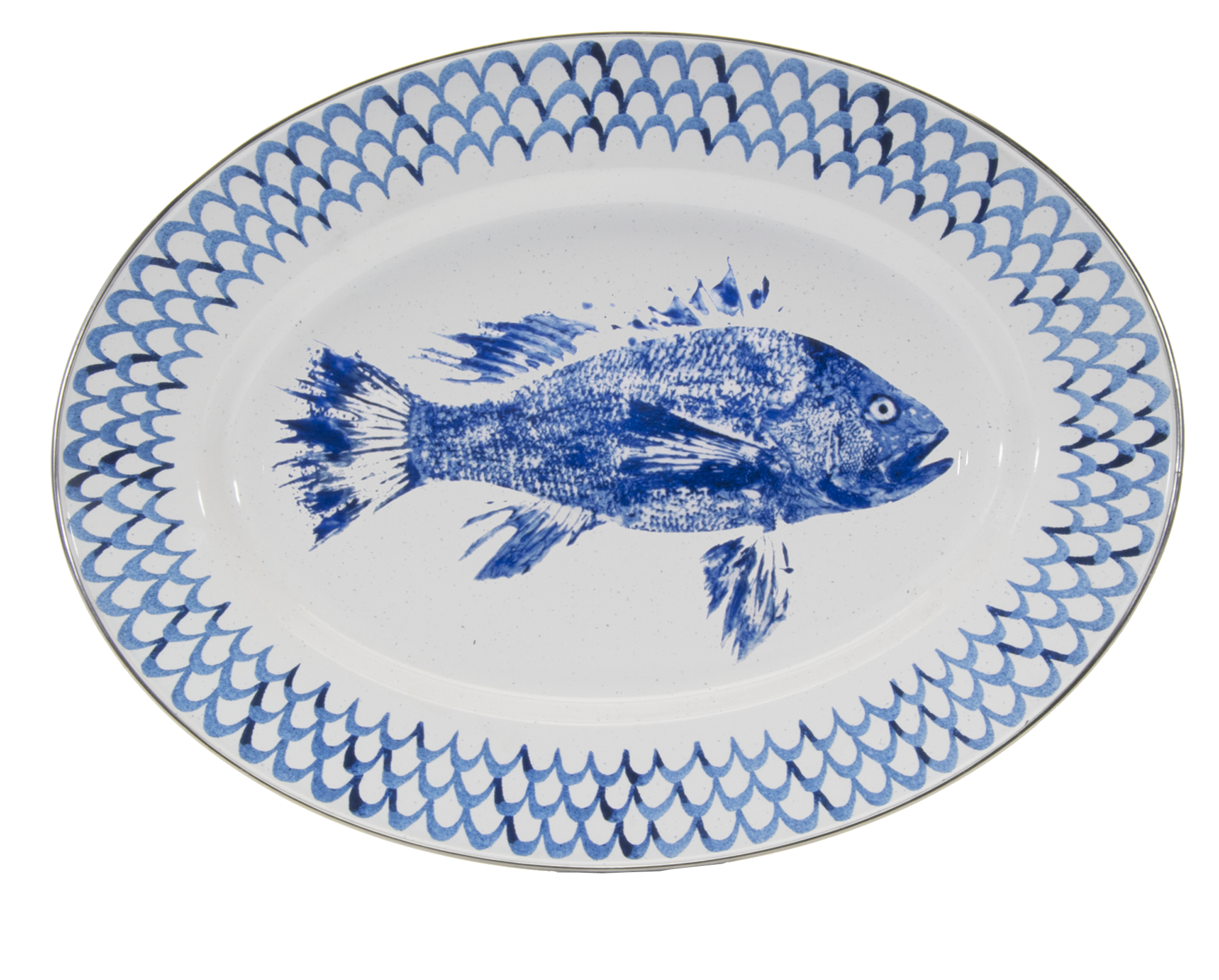 FC06 - Fish Camp Pattern -  Oval Platter