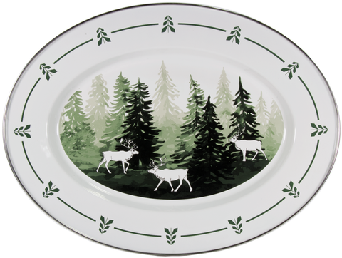 FG06 - Fish Camp Pattern -  Oval Platter