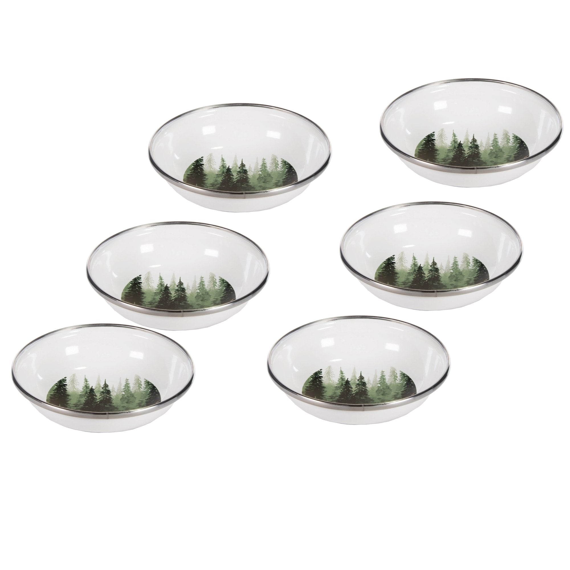 FG59 - Forest Glen Pattern - Enamelware Tasting Dish - by Golden Rabbit