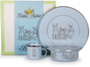 Golden Rabbit - Enamelware Blue Bunnies Pattern Child Dinner Set