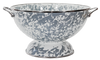 GY25 Grey Swirl Pattern - Large Colander