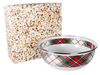 HP103 - Highland Plaid Pattern -  Enamelware Popcorn Bowl - by Golden Rabbit