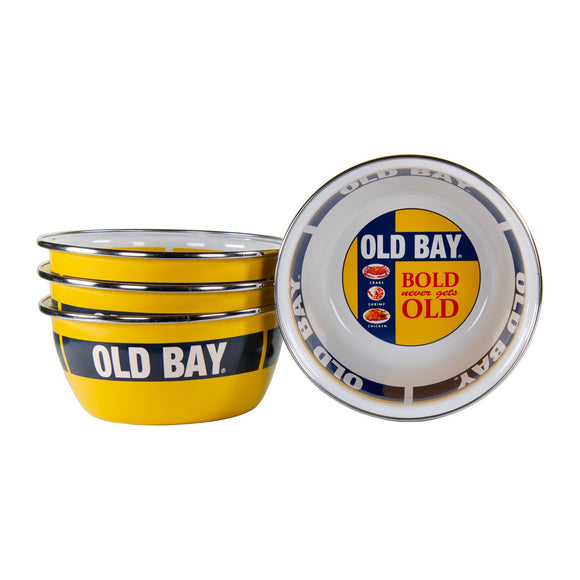 OB61S4 - Old Bay Pattern - Set of 4 - Salad Bowl