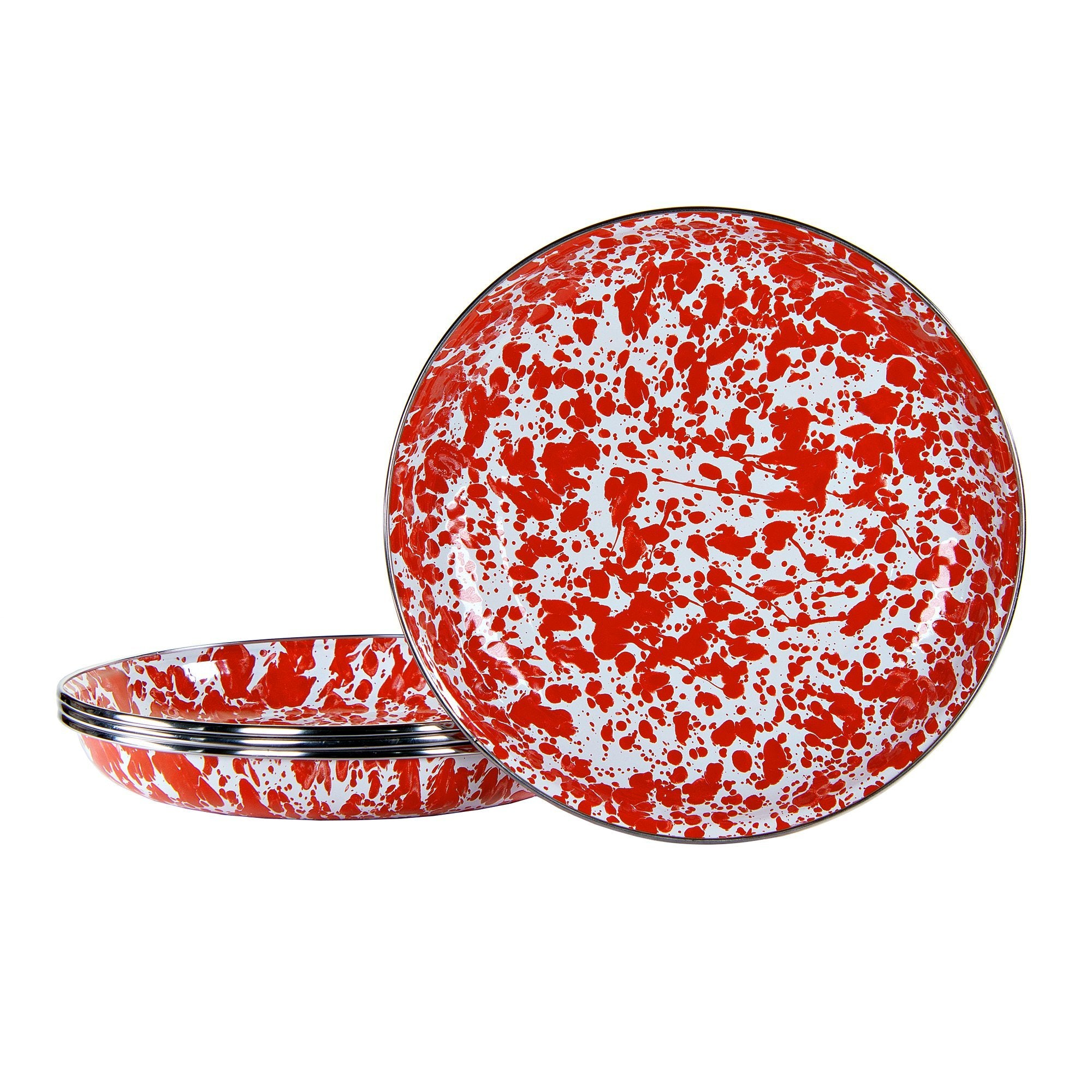 RD04 Red Swirl Pasta Plate
