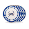 SE11S4 - Set of 4 - Blue Crab - Sandwich Plates