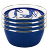SE61S4 - Blue Crab Pattern - Set of 4 - Salad Bowls