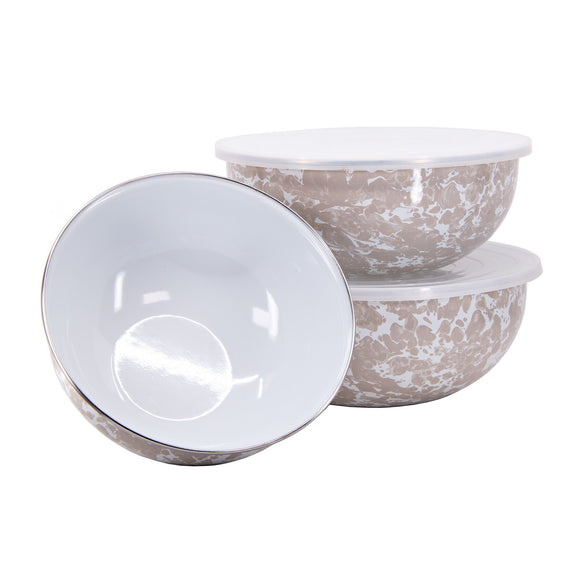 TP54 Taupe Swirl Mixing Bowls