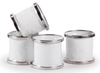 WW74 Solid White Napkin Rings-Set of 4