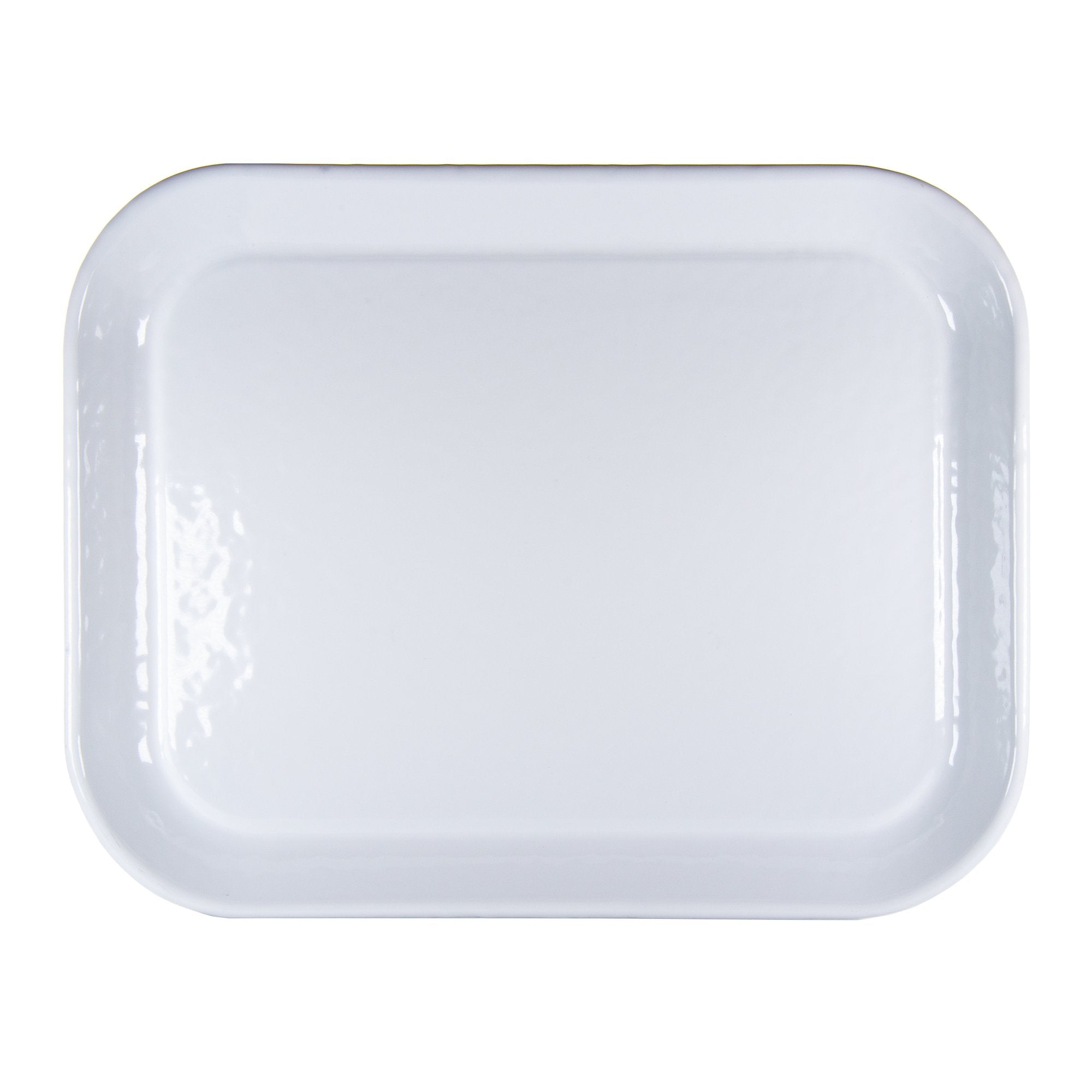 WW98 - White on White -  Enamelware Half Sheet Tray by Golden Rabbit