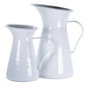 WW63 - Solid White - Enamelware- Large Pitcher by Golden Rabbit