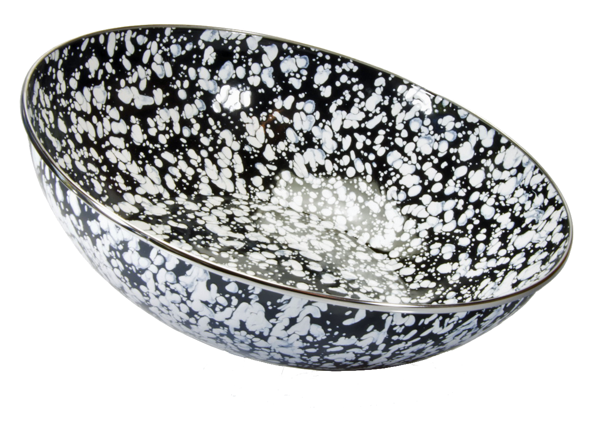 BL18 Black Swirl Catering Bowl