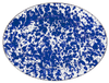 CB06 Cobalt Blue Swirl Oval Serving Plate