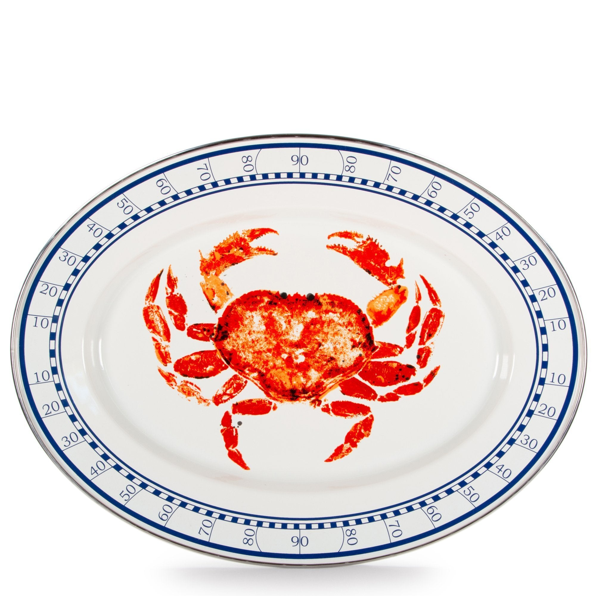 CR06 - Crab House Pattern - Oval Platter