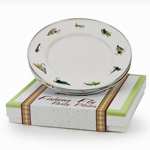 FF64 Fly Fishing Party Plates Gift Box
