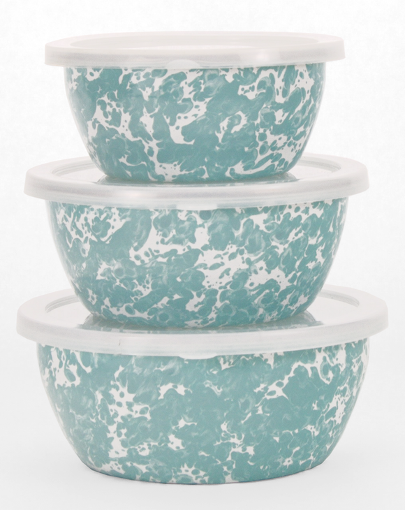 GL30 Sea Glass Swirl Pattern - Nesting Bowls by Golden Rabbit