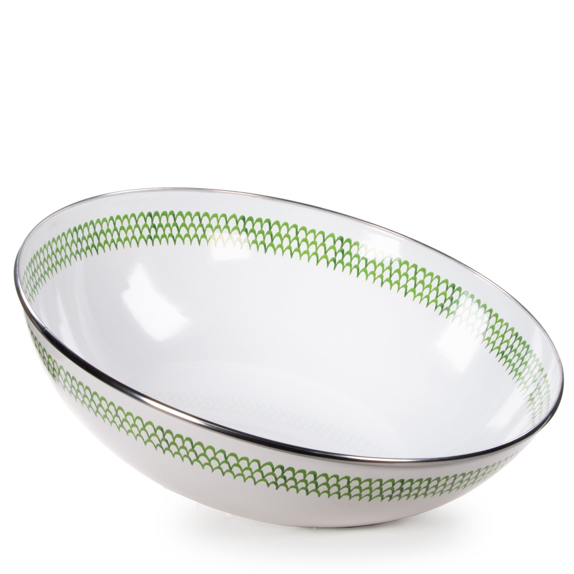 GS18 - Green Scallop Catering Bowl Product 1