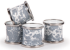 GY74 - Enamelware - Grey Swirl Napkin Rings-Set of 4 by Golden Rabbit