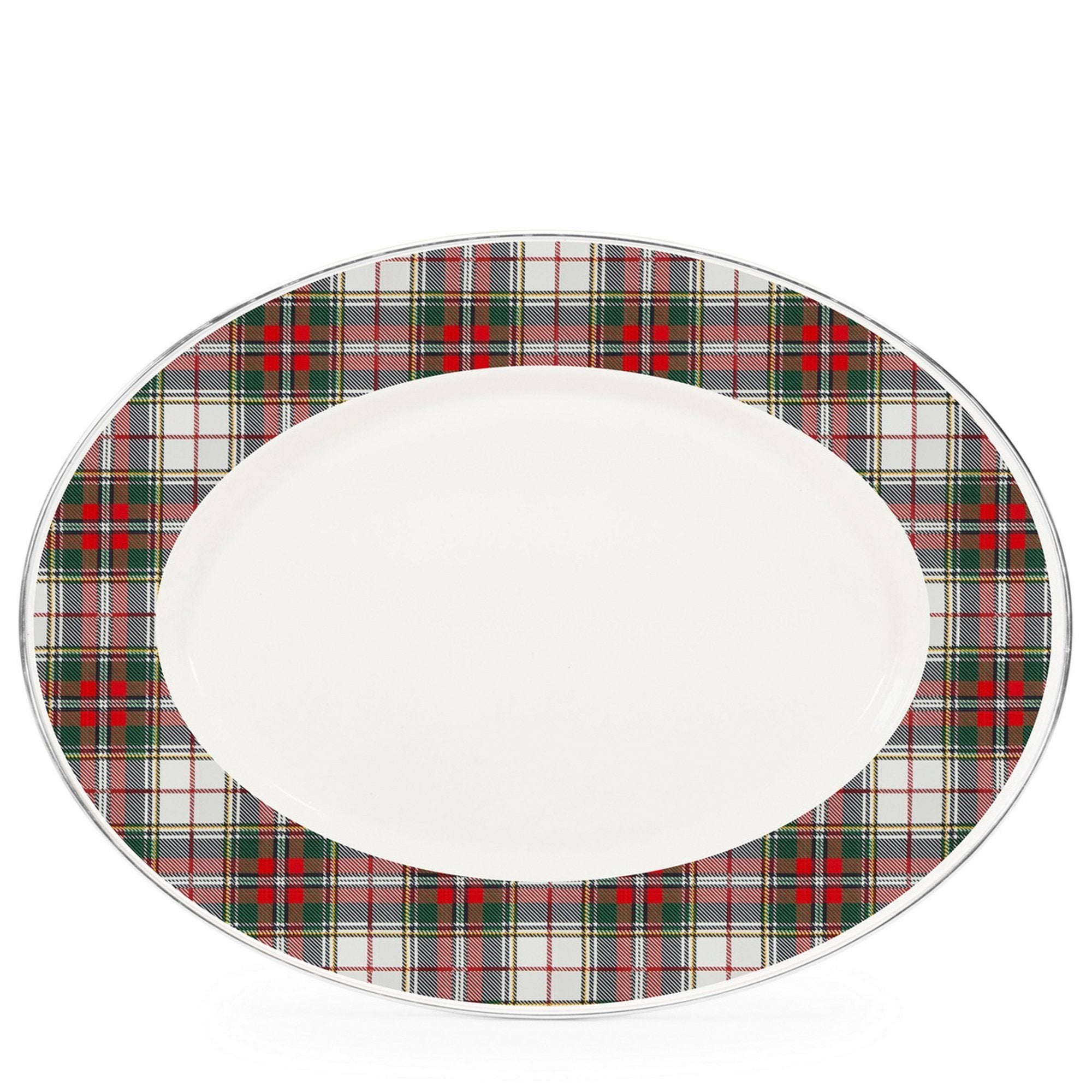 HP06 - Highland Plaid Oval Platter Product 1