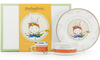 MR99 -  Enamelware Rabbit Pattern Child Dinner Set