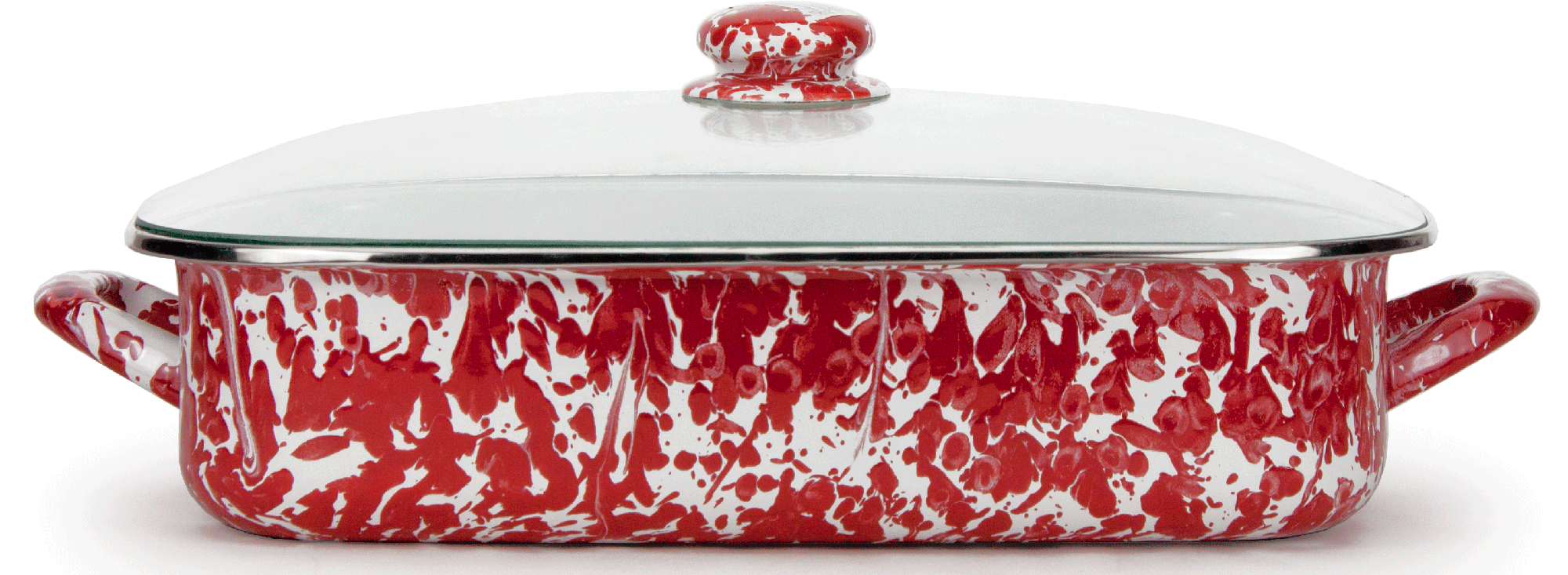RD15 Red Swirl Lasagna Pan Set
