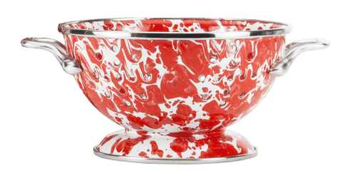 RD24 Red Swirl Petite Colander