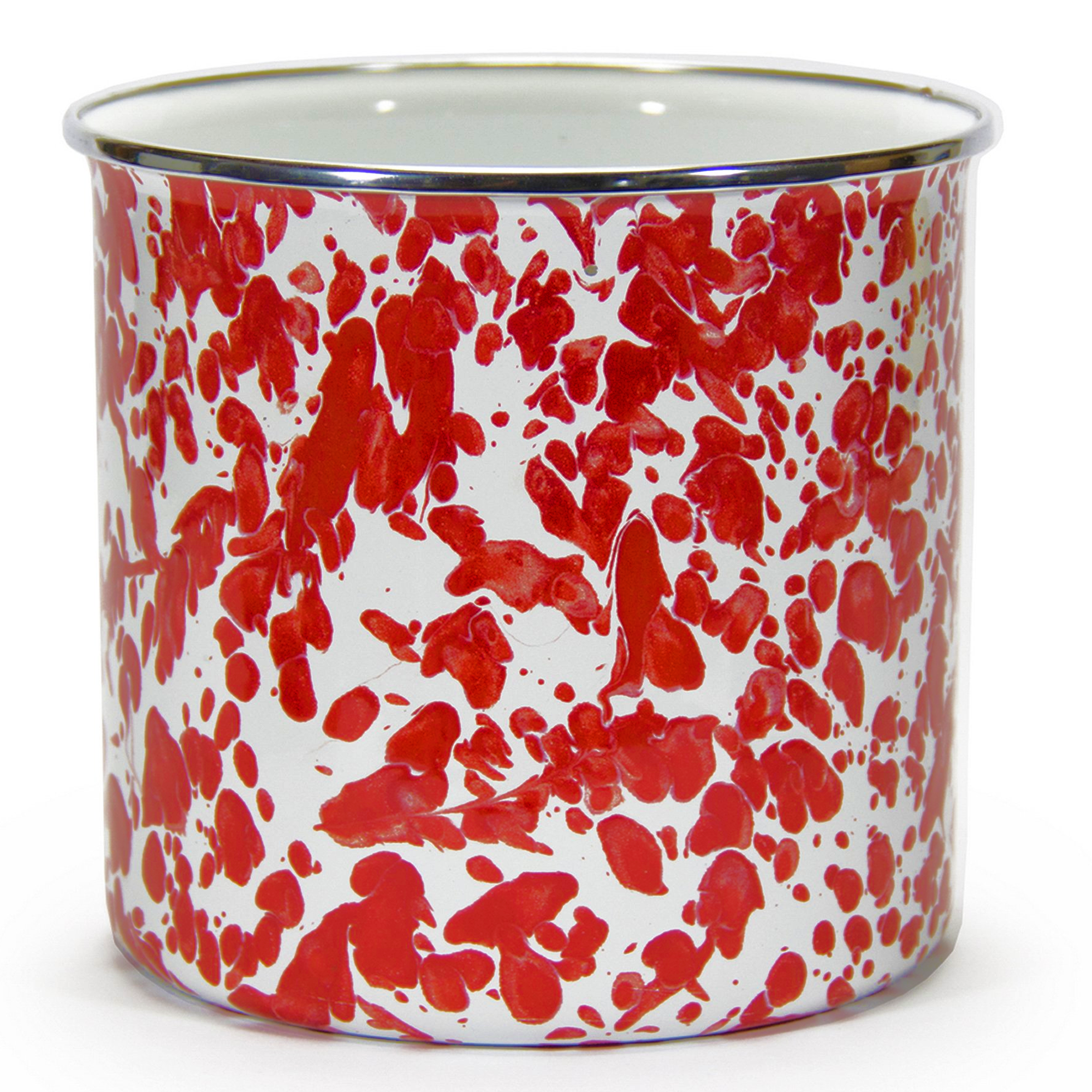 RD34 Red Swirl Utensil Holder