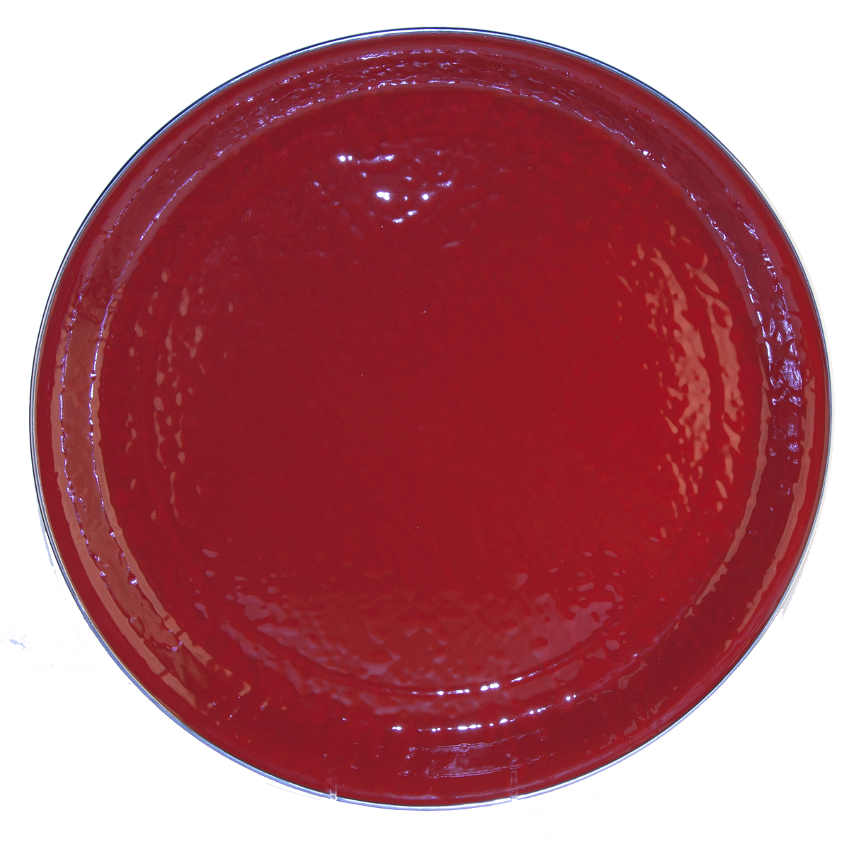 RR01 Solid Red Large Serving Tray