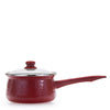 RR19 - Solid Red - Enamelware - 5 Cup Sauce Pan by Golden Rabbit