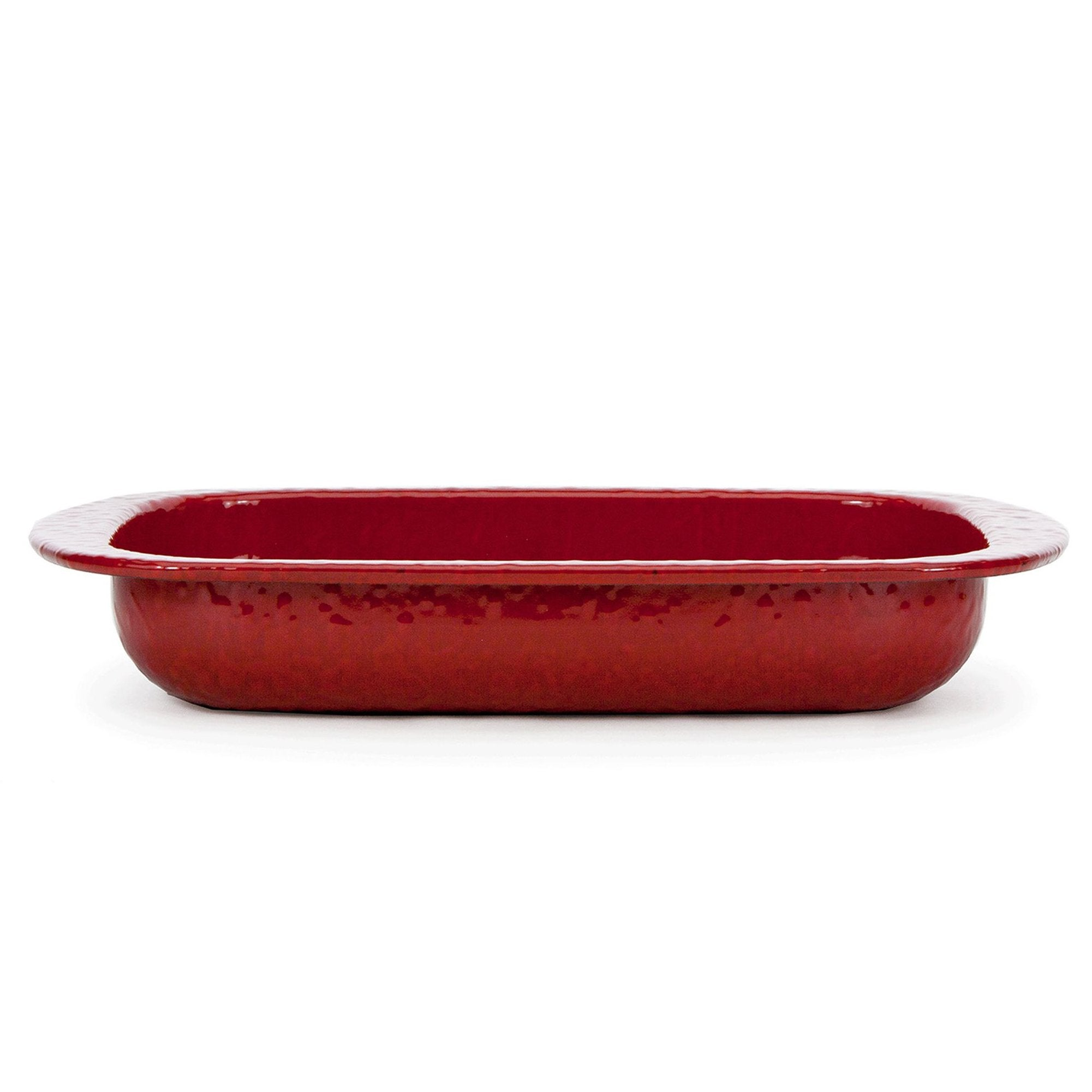 RR78 - Red on Red - 3 Quart Open Baking Pan