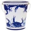 SE13 -  Blue Crab Pattern - Large Pail by Golden Rabbit